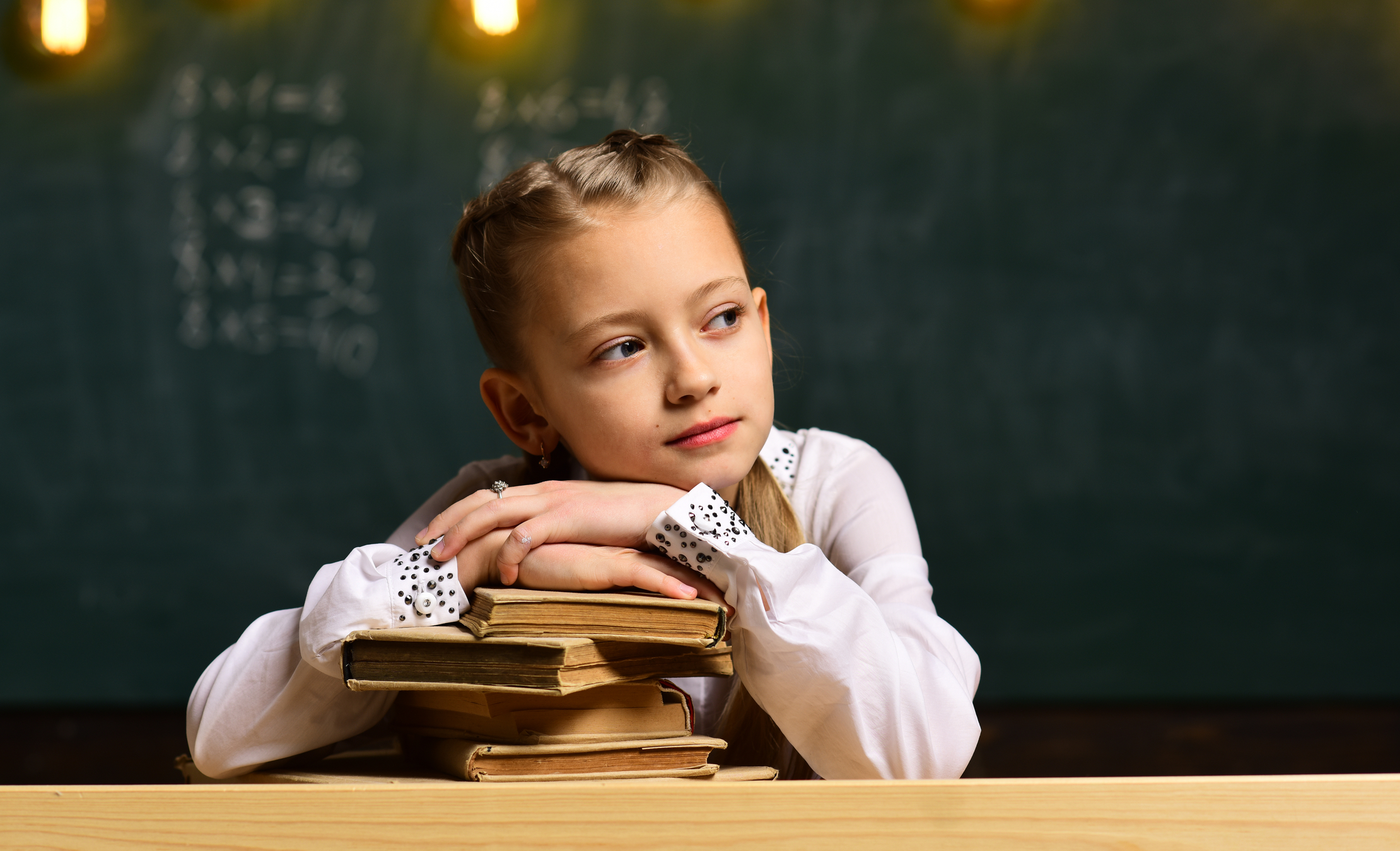 girl and book