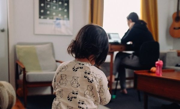 working from home with kids